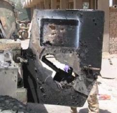 Efectul asupra unei uși blindate de Humvee